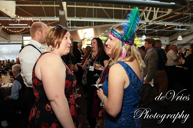 women chatting at the celebration gala