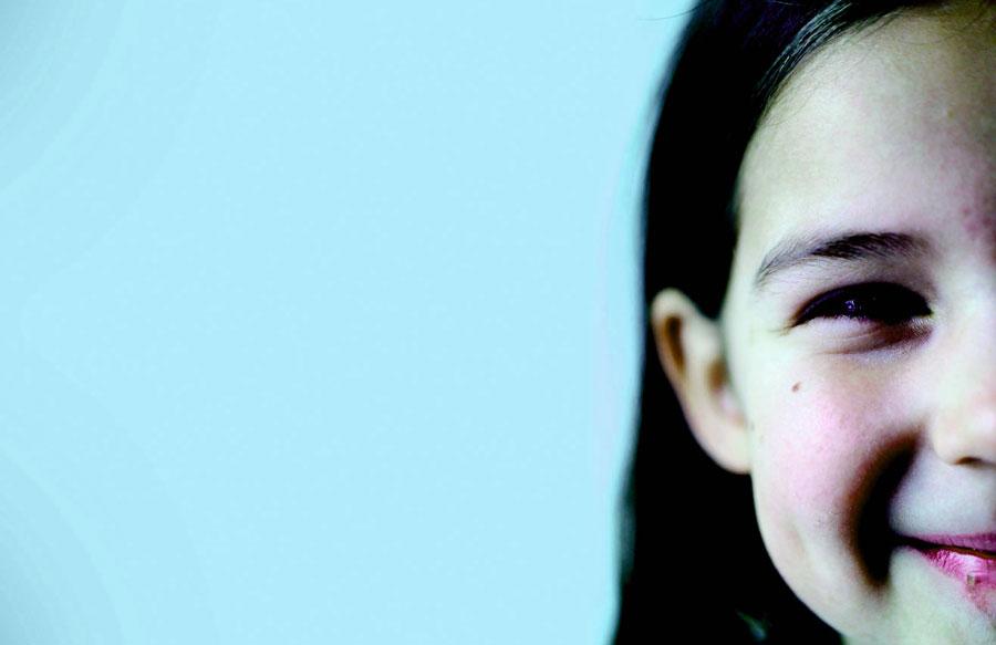 closeup of a girl